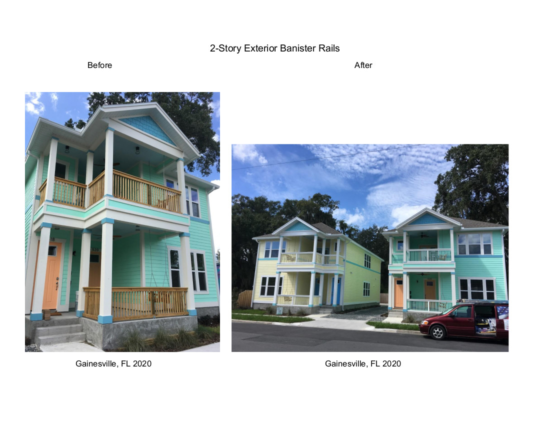 2 Story Banister Rails Before & After Gainesville, FL 2020