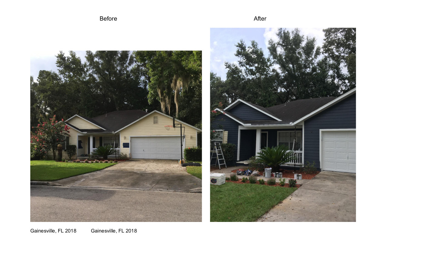 Exterior House Before & After W-Gainesville 2018 June