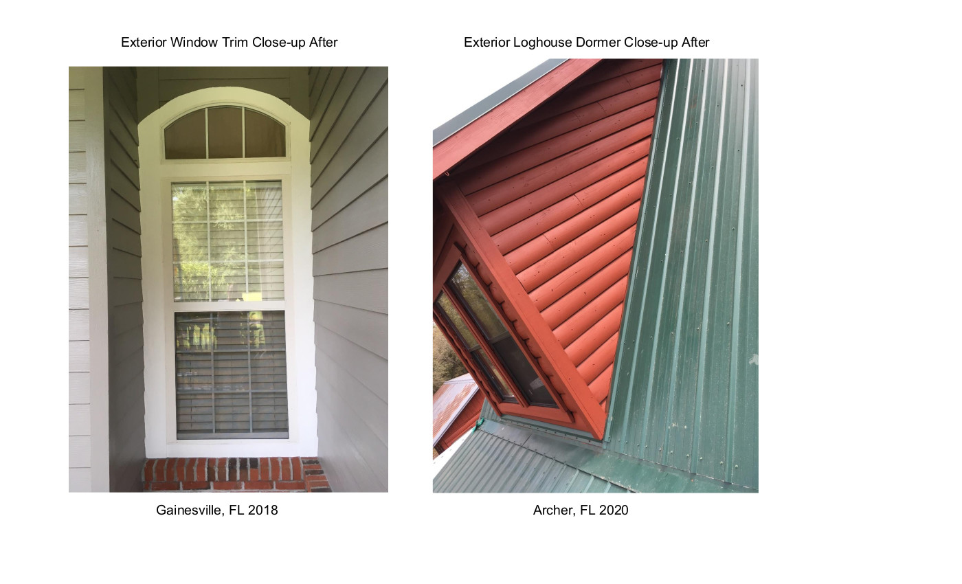 Exterior Window Trim & Dormer Close-ups After 2018 & 2020