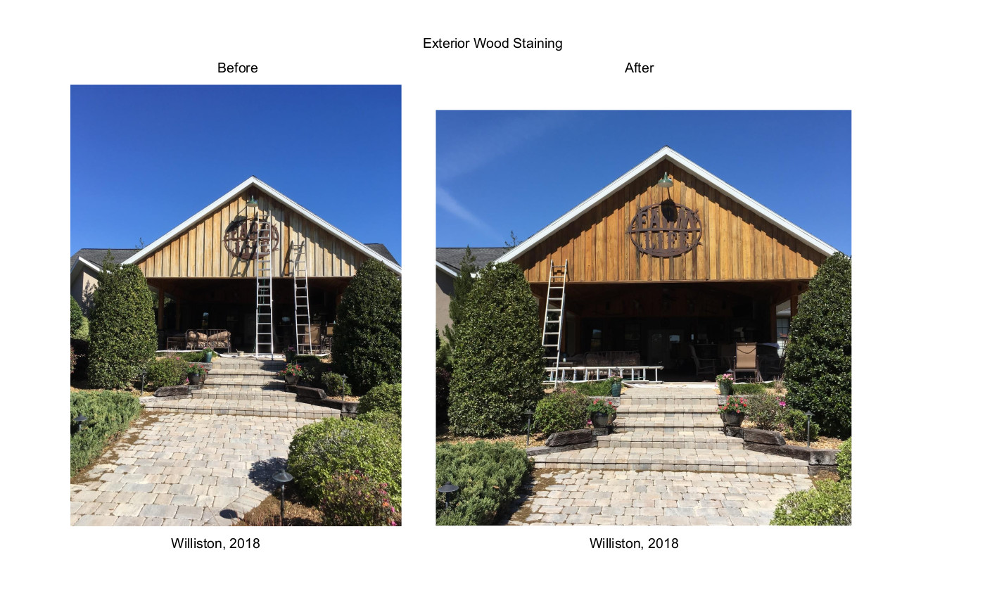 Exterior Wood Staining Before & After Williston 2018