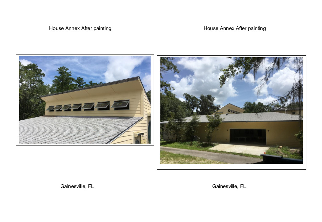 House Annex after painting Gainesville, FL 2020