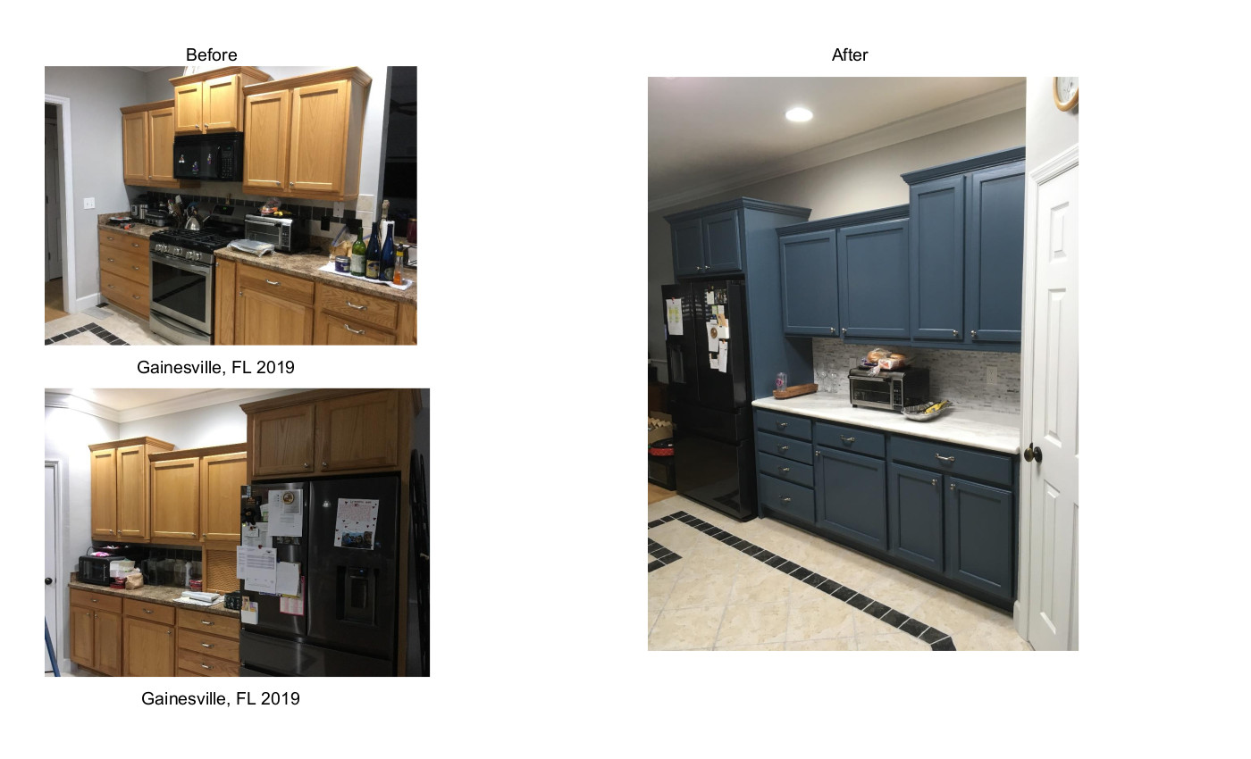 Kitchen Cabs Before & After Gainesville 2019