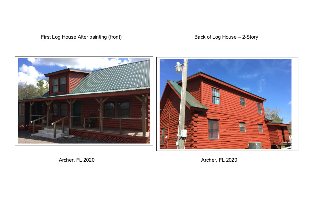 Log House after painting Archer, FL 2020