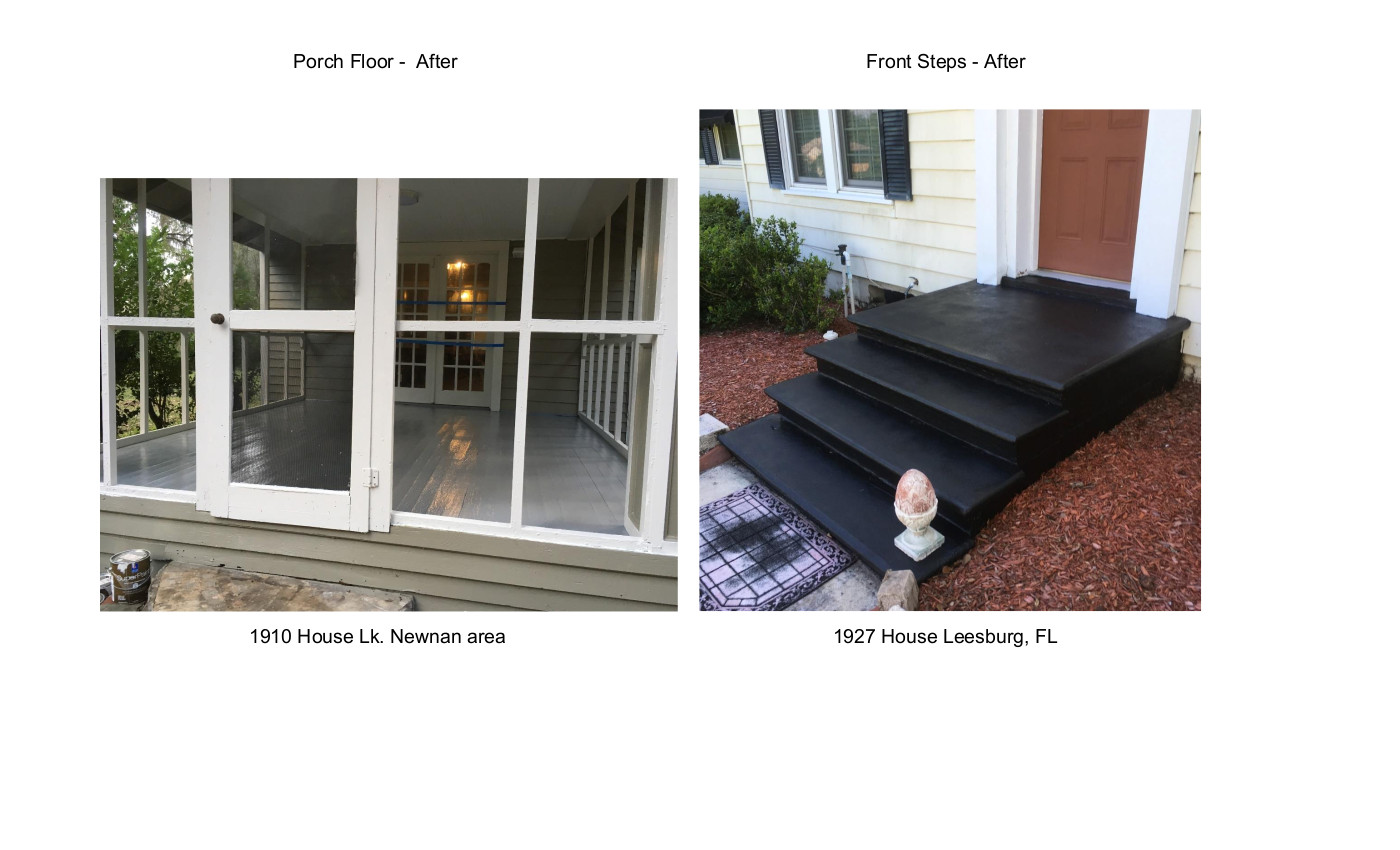 Porch Floor 1910 House Lk Newnan & Front Steps 1927 House Leesburg, FL 2020