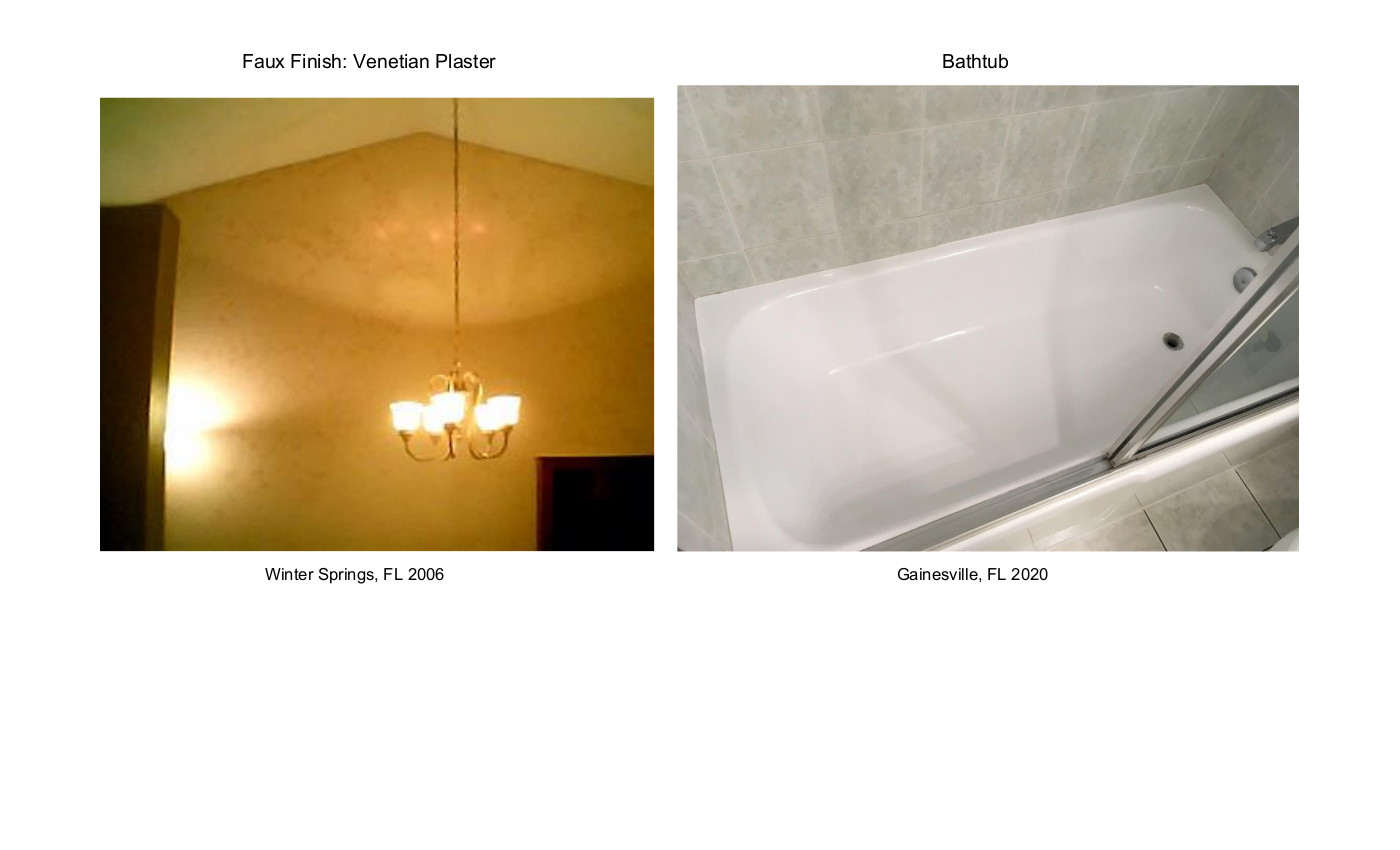 Special Finishes Faux & Bathtub 2006 & 2020